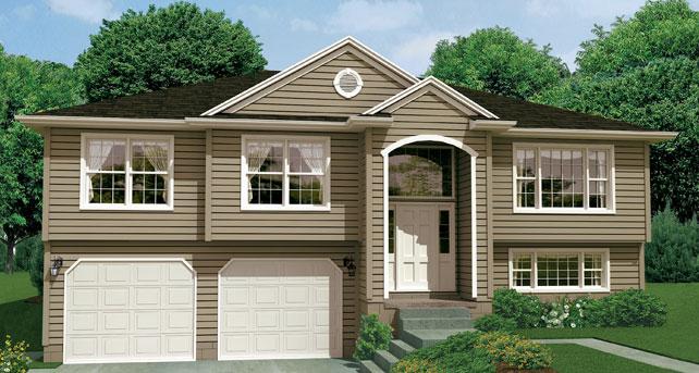 Split level custom home floor plan the georgetown wayne for Wayne homes house plans