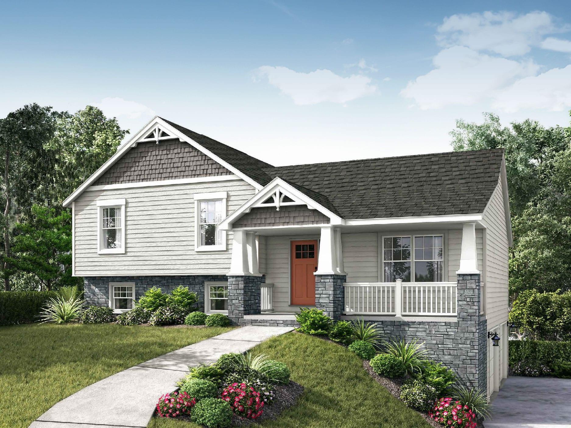 Lexington Ii Floor Plan Split Level Custom Home Wayne Homes