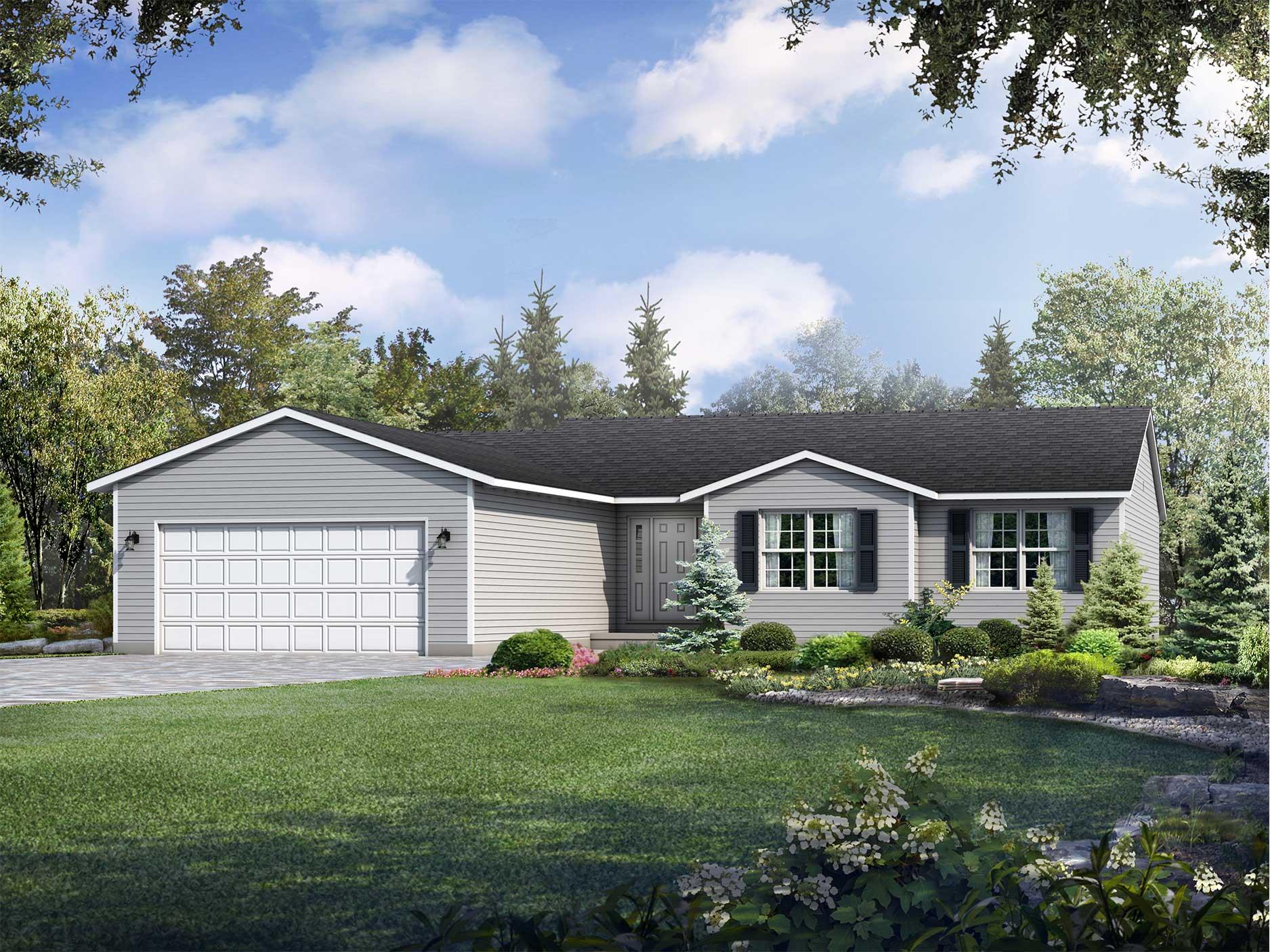 Wayne Homes Ranch Floor Plans: McAllister Floor Plan: Ranch Custom Home