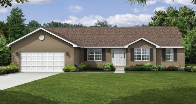 Popular ranch style floor plans the montgomery wayne homes for Classic ranch house plans