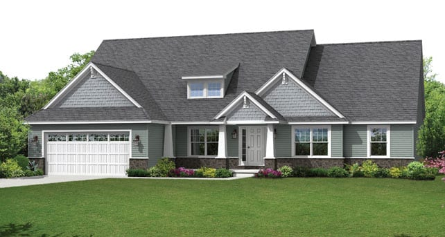 Popular ranch style floor plans the montgomery wayne homes for Wayne homes floor plans