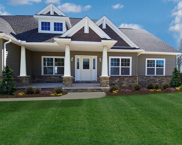 Ohio Custom Craftsman home by Ohio-Based Wayne Homes