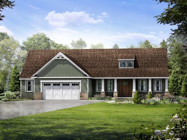 Richmond II Floor Plan: Ranch Custom Home - Wayne Homes on