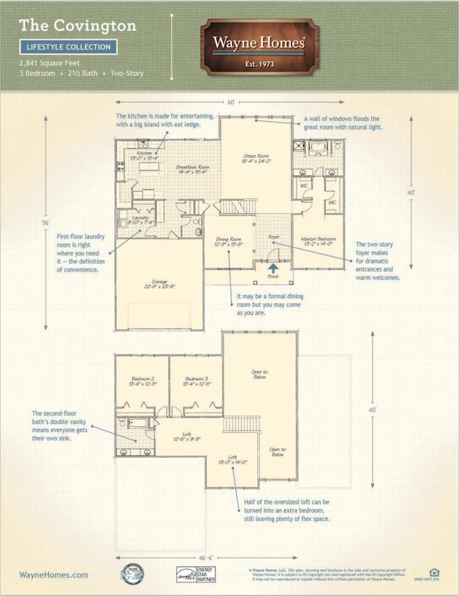 Superb Covington Floor Plan 4 The Beautiful Covington Cape Cod – Manorwood Homes Floor Plans