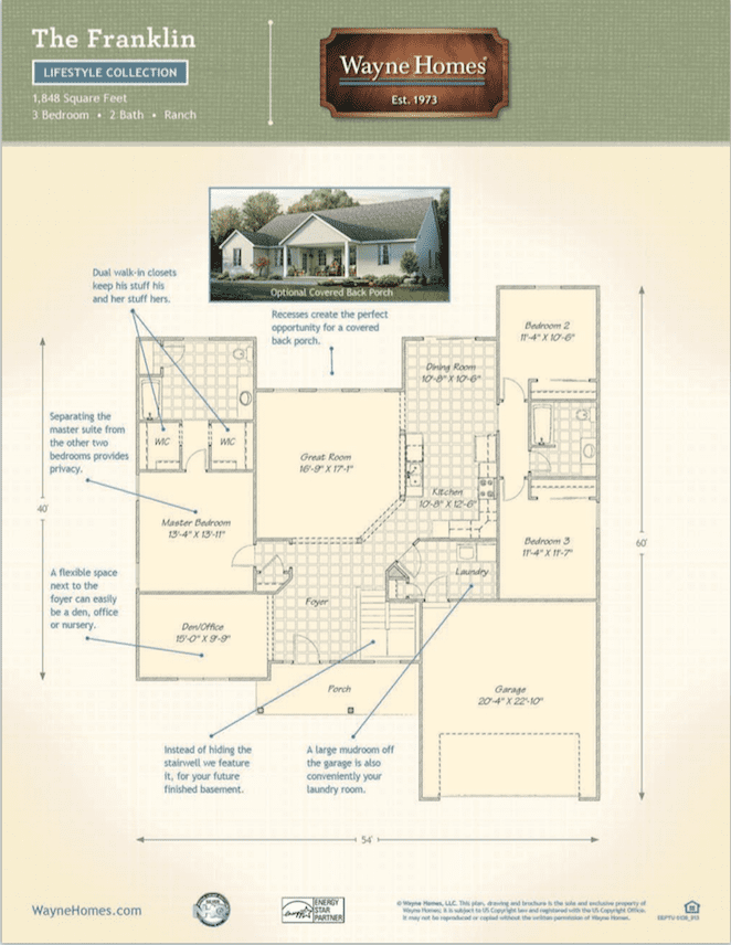 Franklin – Wayne Homes Floor Plans