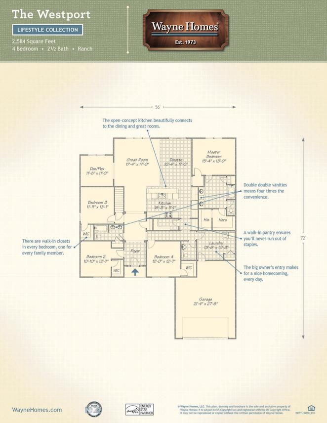 Westport wayne homes for Westport floor plans