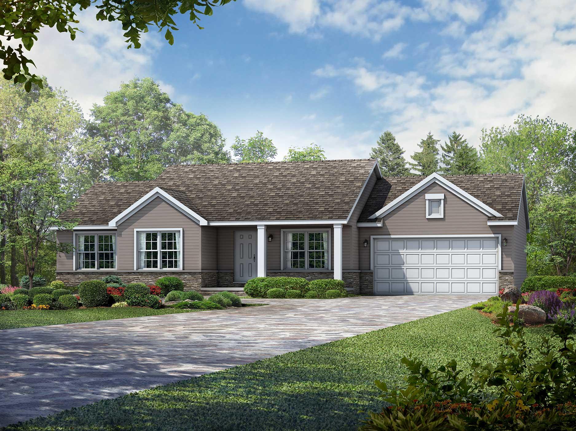 Wayne Homes Ranch Floor Plans: Simple Floor Plans For Your Custom Home: The Bennington