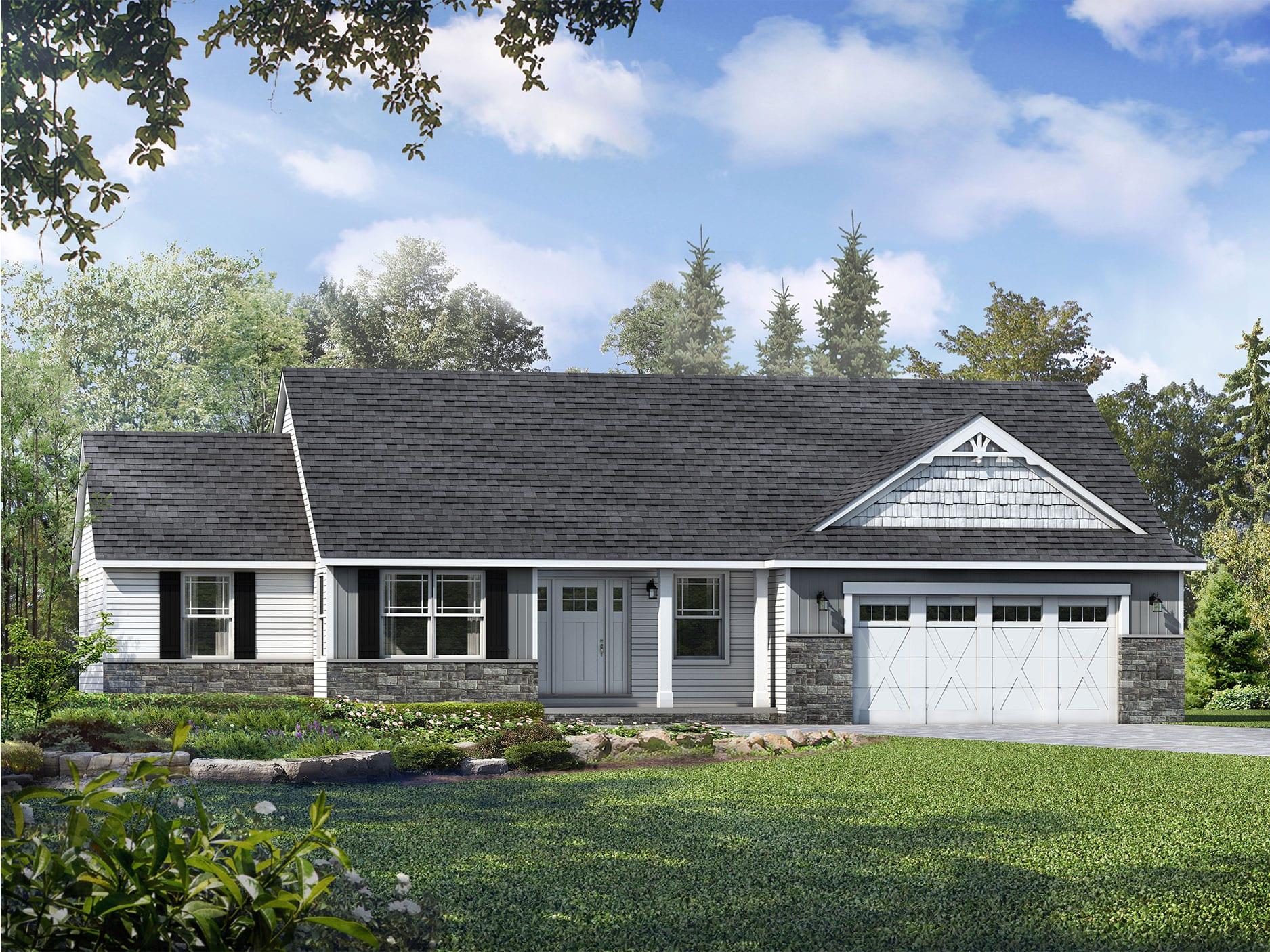 Richmond II Floor Plan: Ranch Custom Home - Wayne Homes