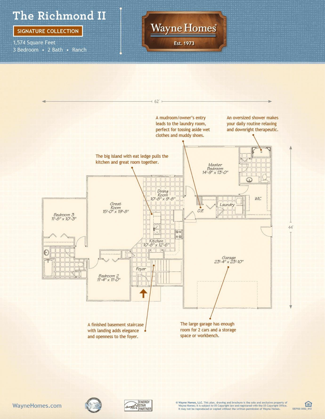 Ranch House Custom Home Floor Plans The Alexandria