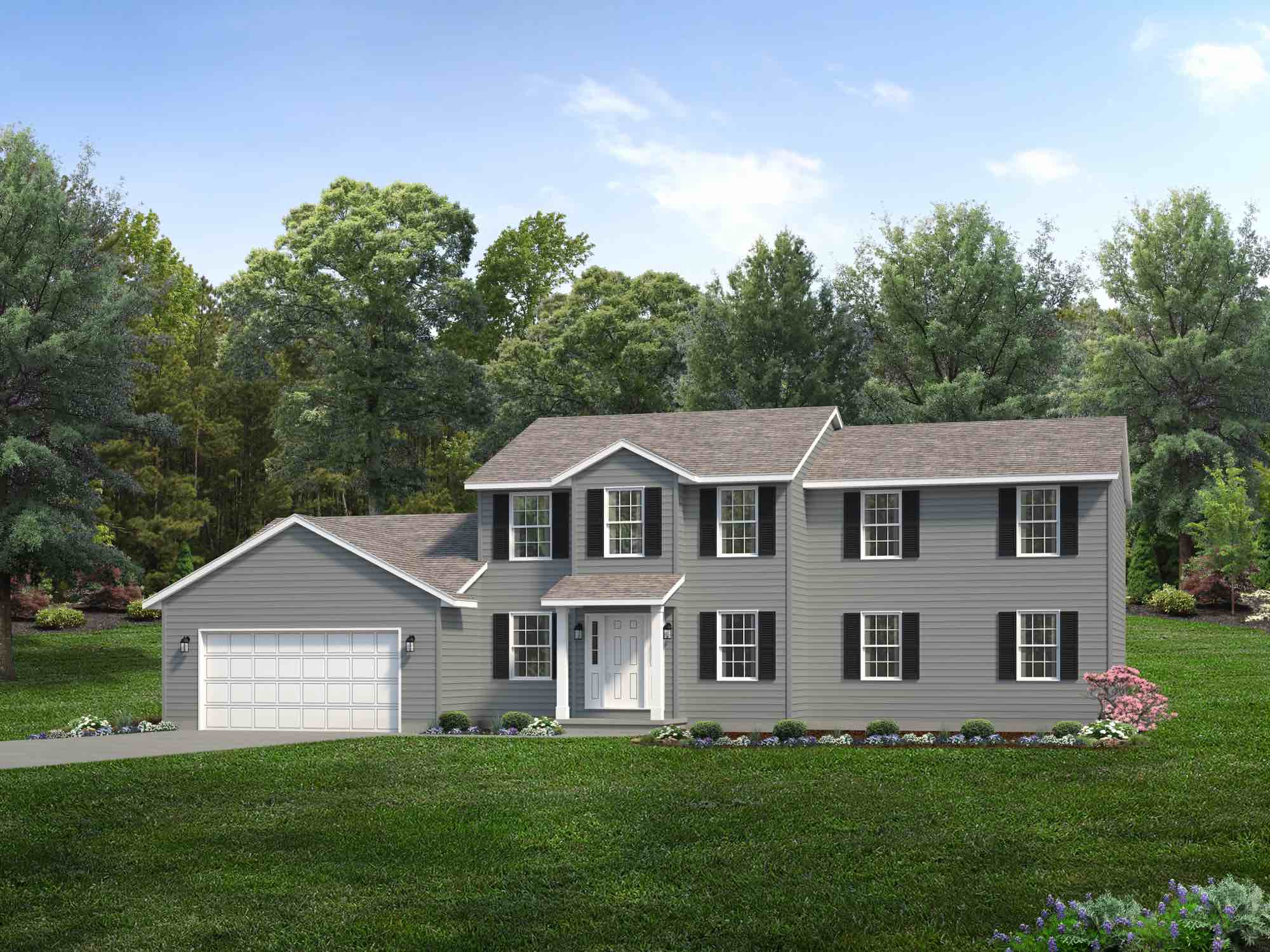 Columbia Floor Plan Two Story Custom Home Wayne Homes