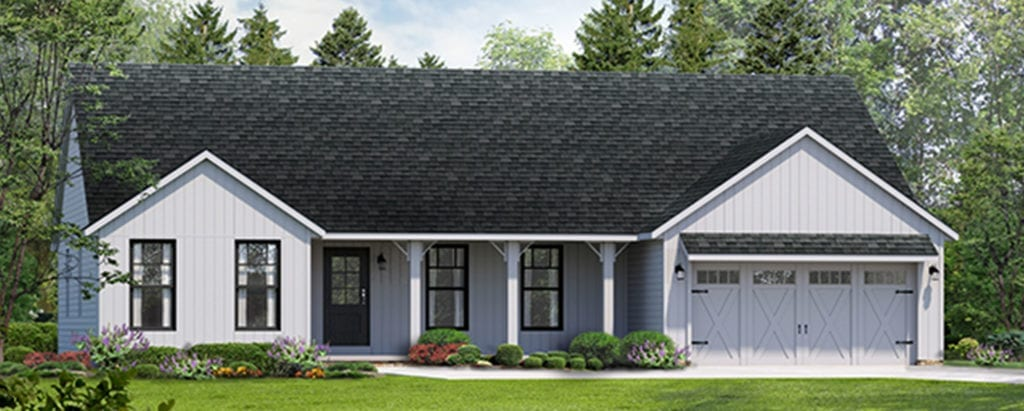 the dorchester ii farmhouse doesnt come with a barn but your kids may still want a pony - Farmhouse Elevations