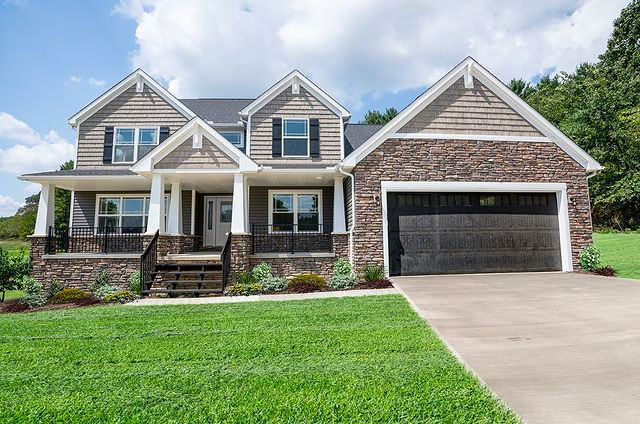 Exterior photo of new home built in Ohio