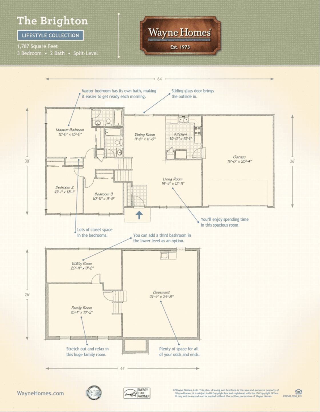 Wayne homes floor plans and prices for Floor plans under 150 000