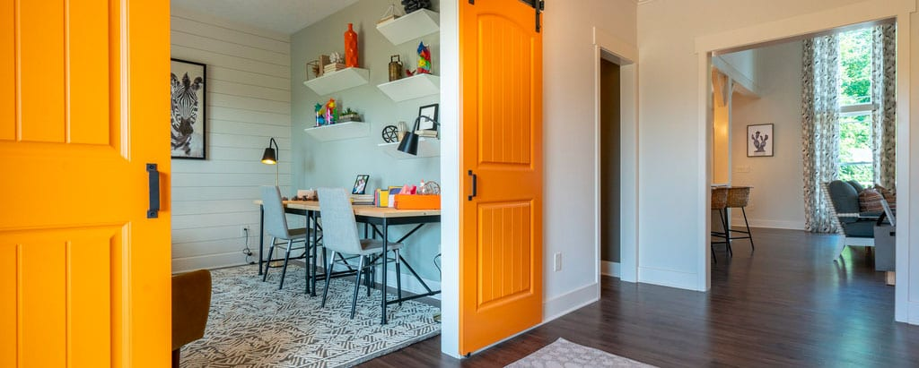 Flex space used as a craft room in the Cedar Hill model in Delaware
