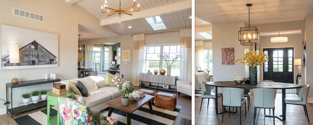 Farmhouse and cottage chic interior styles are huge right now.