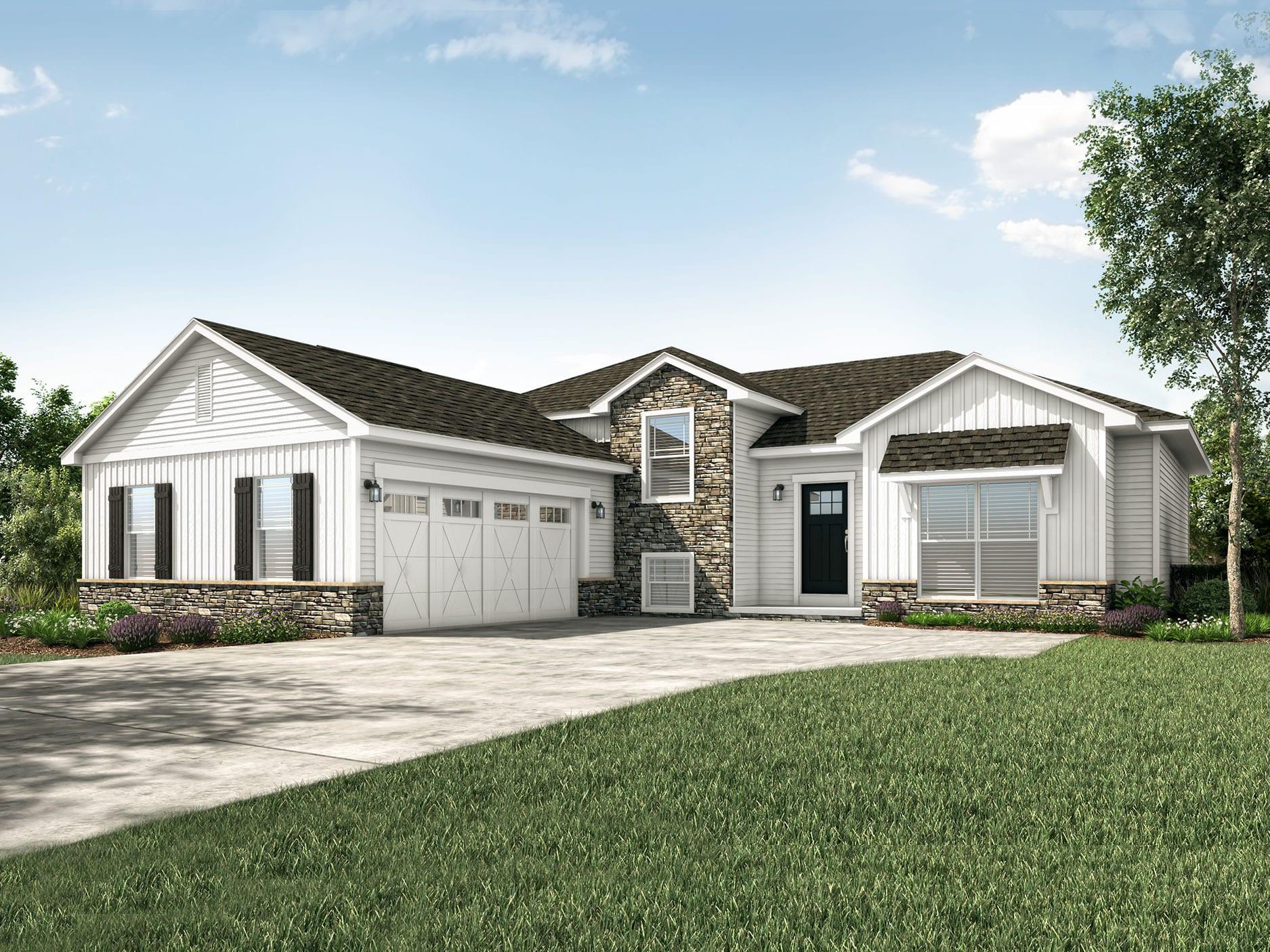 Princeton Ii Floor Plan Split Level Custom Home Wayne Homes