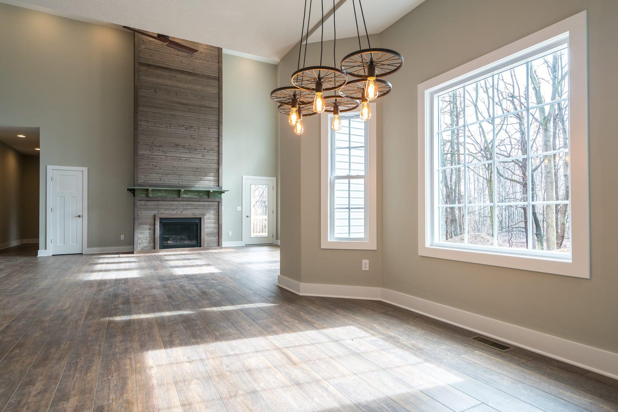 Rustic industrial design featured in a custom Fairfax home