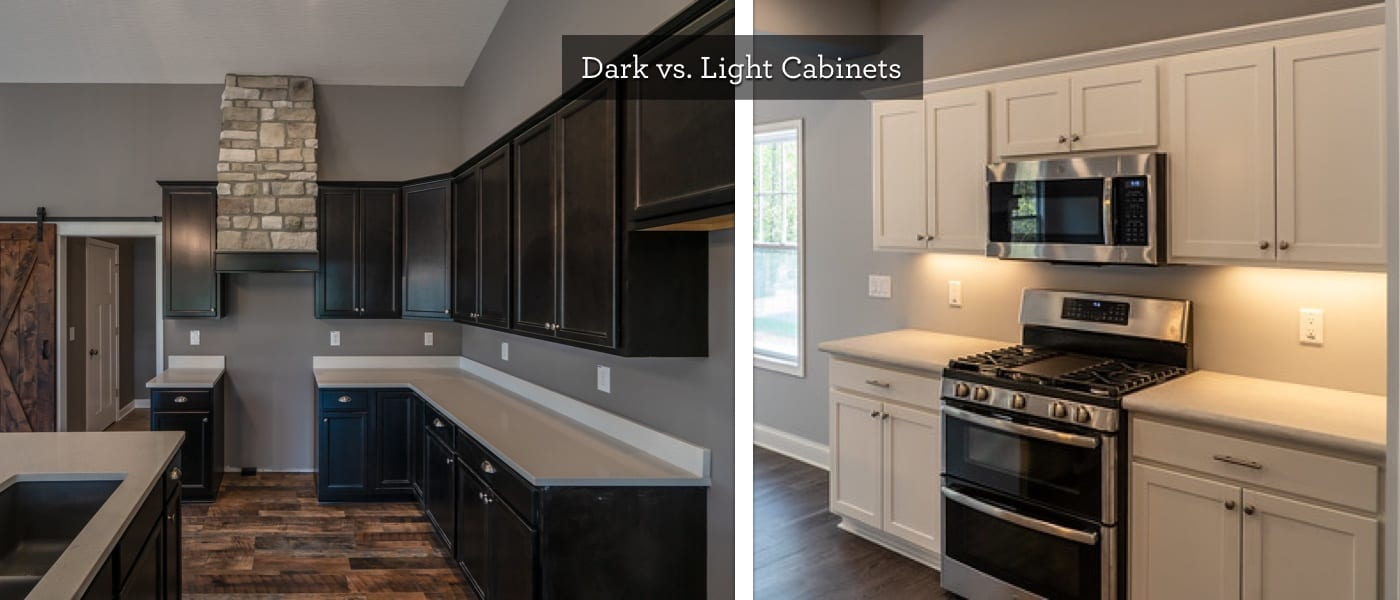 dark vs light cabinets
