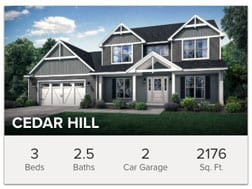 Cedar Hill 3 bedroom floor plan from Wayne Homes