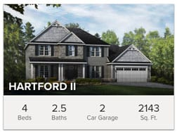 Hartford II custom 2 story floor plan from Wayne Homes