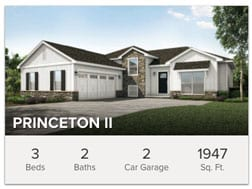 Princeton II custom 3 bedroom floor plan