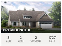 Providence II 3 bedroom ranch custom home from Wayne Homes