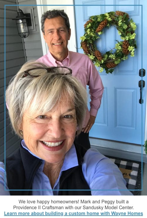 Mark and Peggy Caputo in front of their Wayne Home