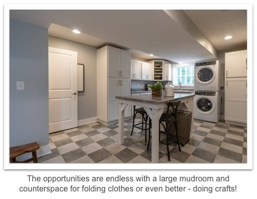 mudroom counter space